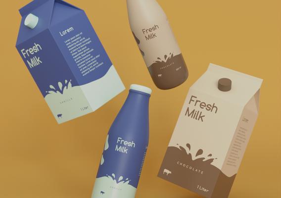 3D Packaging Milk