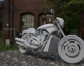 harley 3D model motorcycle