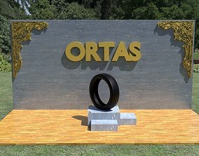 3D asset ORTAS TIRE NO 11 GAME READY