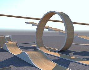 3D asset Stunt Arena Equipment