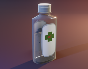 Little Hand Sanitizer 3D asset
