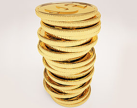 A stack of coins 3D model