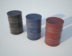 3D asset Metal Barrel