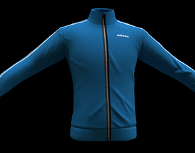 3D model low-poly adidas jacket