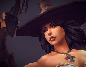 Low poly Demon Hunter 3D model rigged