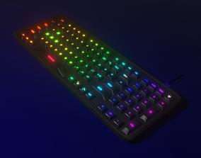 Gaming Keyboard 3D model animated