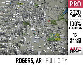3D asset Rogers - city and surroundings