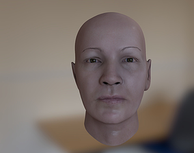 female Head Model 3D asset