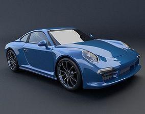 Porsche Carrera 911 4s 2014 restyled 3D model