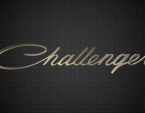 3D model of challenger logo