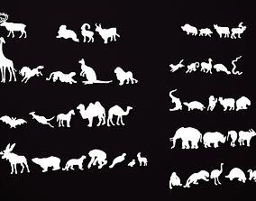 Animal silhouettes 3D printable model
