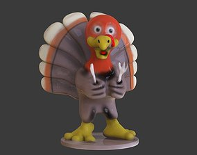 3D printable model Thanksgiving Turkey Toon