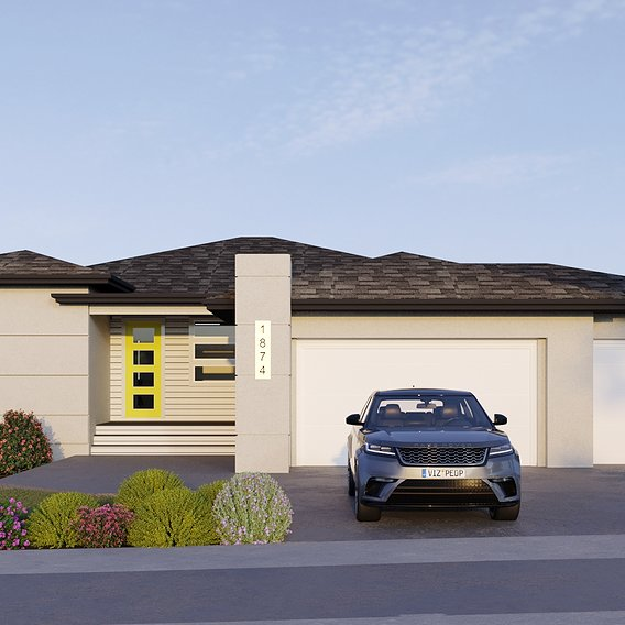Photorealistic 3D House  Rendering Services