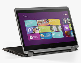 Acer Aspire R 14 R3 471T 3D model animated