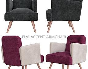 Elvi Accent Armchair 3d model game-ready