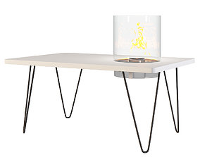 Planika FIRE TABLE MINI Fireplace Table 3D asset
