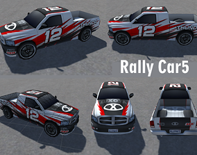 realtime Rally Sports Racing Cars low-poly 3d models