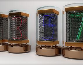 3D model Steampunk Nixie tube pack