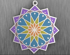 Pendant with Islamic ornament 3D printable model