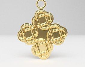 Celtic pendant 07 3D print model