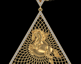 Pyramid hours statue pendant 3D printable model