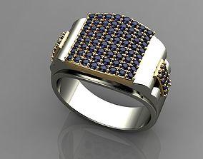 3D printable model Sapphire 18k Gold Ring