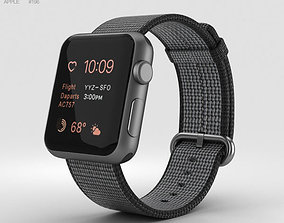 3D model Apple Watch Series 2 38mm Space Gray Aluminum 2