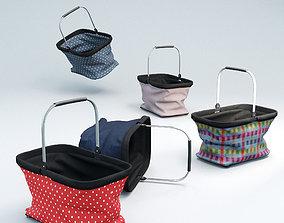 food Shopping basket 3D model