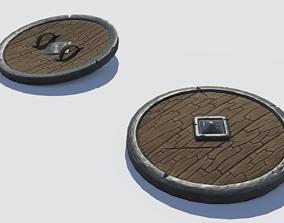 3D asset Handpainted Fantasy Shield