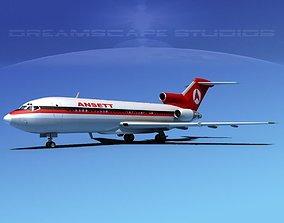 Boeing 727-100 Ansett Airlines 3D model