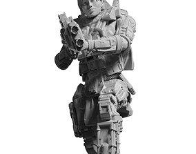 Scifi Battle Armor - Koloss Assault Rifle Captain Ryli 3D