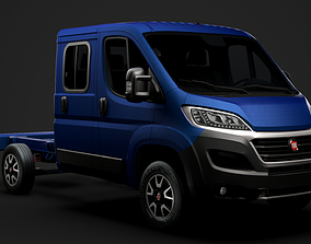 3D Fiat Ducato Chassis Truck Crew Cab 3450 WB 2020