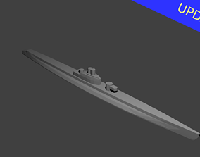 French Redoutable Class 3D printable model