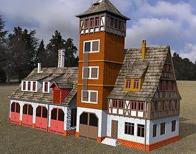 Fire Station for DAZ Studio 3D model