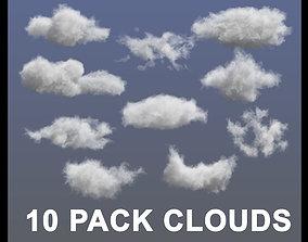 3D model realistic Clouds - 10 PACK - VDB