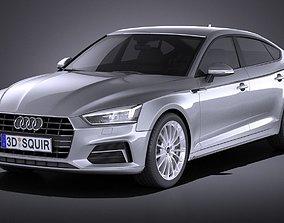 3D model 2020 Audi A5 Sportback 2017