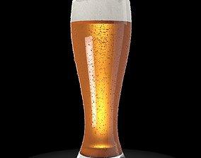 3D model foam Beer Glass