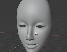 Female mask 3D head