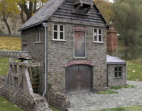 Blossom Hill Mill in fbx and obj format 3D model