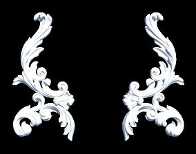 Decorative carved element 3D print model