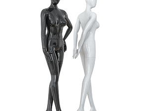 3D Abstract female mannequins 17