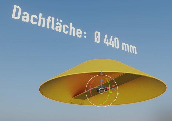 Flight Marker Hood 400mm  (Blender-2.92 Eevee)