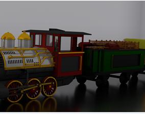 3D model Classic toy train