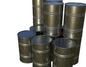 3D asset Steel Barrel PBR