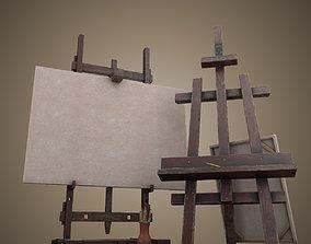 Easel artist 3D model
