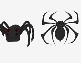 Spider Logo Emblem 3D model