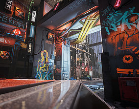 Cyberpunk Environment Kitbash Set 3D asset