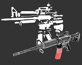 low-poly M4A1 3D Model Bilder Kit Starter Pack