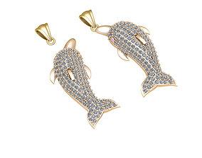 Dolphin jewelry pendant 3D printable model