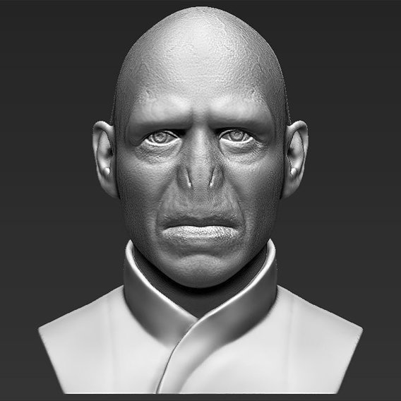 Lord Voldemort bust for 3D printing
